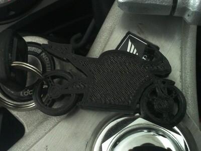 摩托钥匙链-3d打印模型