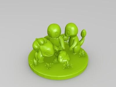 Pokemon GO!(口袋精灵)-3d打印模型