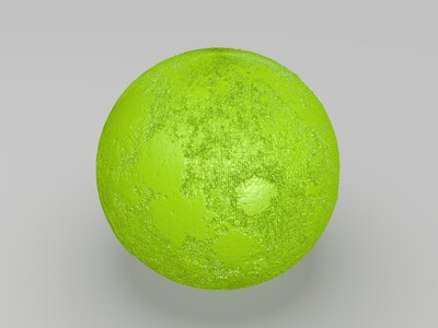月球灯加底座-3d打印模型
