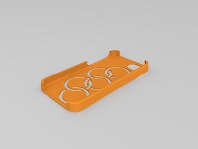 奥运五环-手机壳-3d打印模型