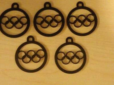 奥运五环--吊坠-3d打印模型