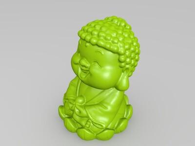 萌萌的佛祖-3d打印模型