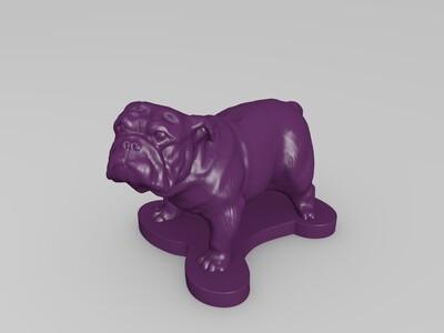 斗牛犬-3d打印模型