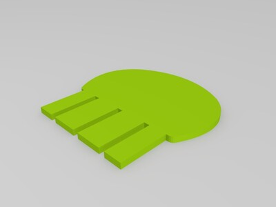 拼装骷髅头笔筒-3d打印模型