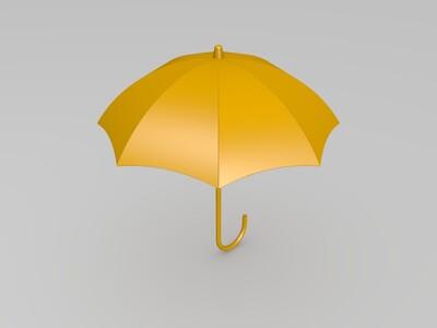 雨伞-3d打印模型