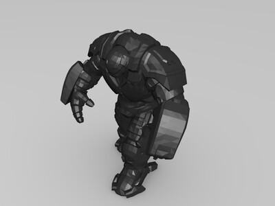 行走姿势的反浩克装甲-3d打印模型