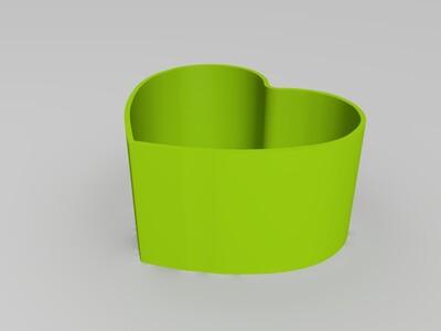储物盒-玫瑰心-3d打印模型