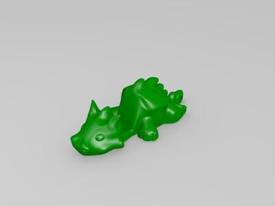 小龙手机支架-3d打印模型