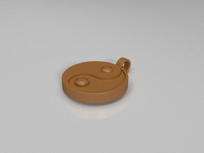 太极吊坠-3d打印模型
