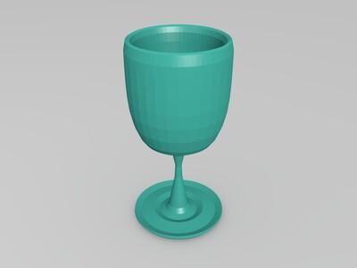 玻璃酒杯-3d打印模型