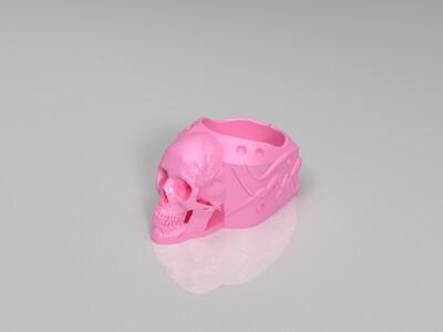 帅帅哒的骷髅指环-3d打印模型