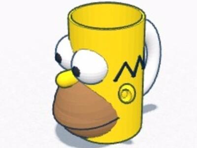 辛普森 杯子-3d打印模型