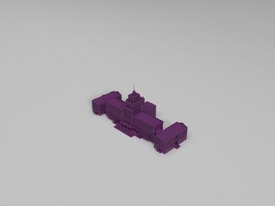 哈尔滨工业大学主楼-3d打印模型