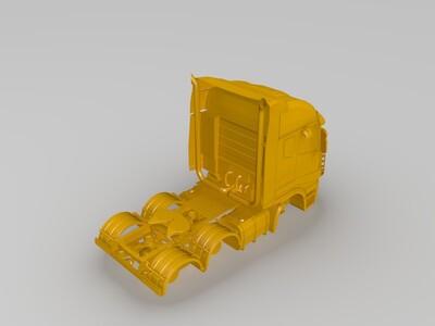 货车车头-3d打印模型