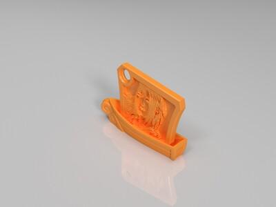 3D打印钥匙扣-3d打印模型