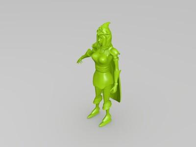 寒冰射手一艾希-3d打印模型