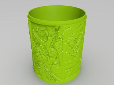 lol系列浮雕灯-薇恩系列-3d打印模型