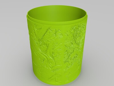 lol系列浮雕灯-锤石系列-3d打印模型