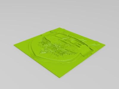 英雄联盟LOGO浮雕-3d打印模型