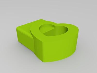 U盘帽子 U盘扣子 挂坠-3d打印模型