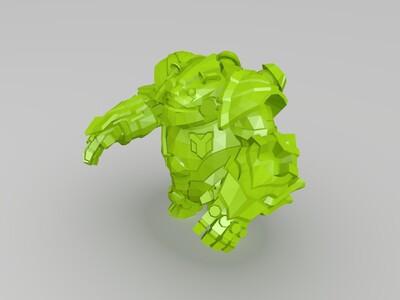 英雄联盟海克斯科技熊-提伯斯大熊宝宝-3d打印模型