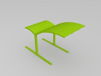 公共雨棚  车棚-3d打印模型