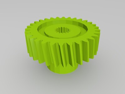 领翔后视镜齿轮-3d打印模型