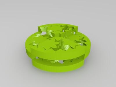双色多层齿轮轴承-3d打印模型