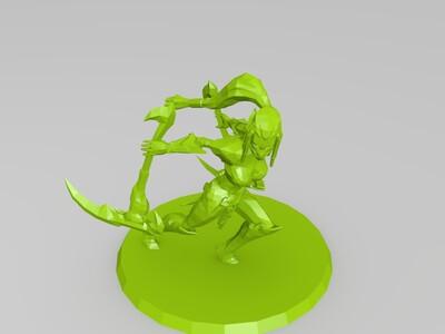 英雄联盟铁血女忍阿卡丽原画还原-3d打印模型