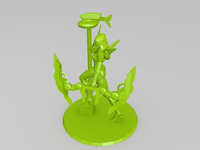 英雄联盟源计划联合原画还原-3d打印模型