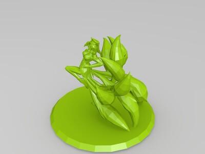 英雄联盟偶像歌手阿狸原画还原-3d打印模型