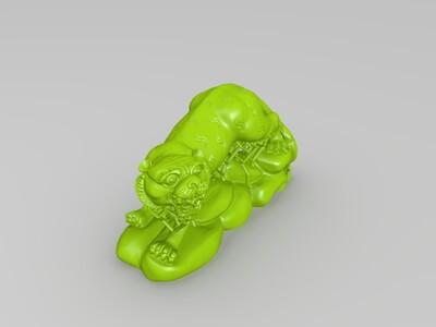 十二生肖-虎-精修+支撑-3d打印模型