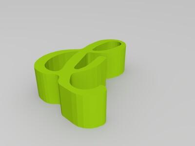 &形手机支架-3d打印模型
