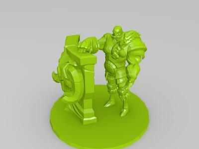 英雄联盟布隆基础版原画还原-3d打印模型