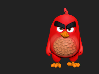 愤怒的小鸟存钱罐(电影版)-3d打印模型