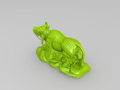 十二生肖-牛-精修+支撑-3d打印模型