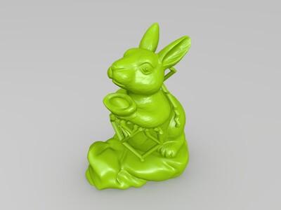 十二生肖-兔-精修+支撑-3d打印模型