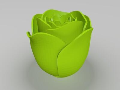 一束玫瑰花-3d打印模型