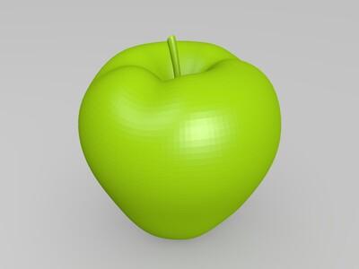苹果-3d打印模型