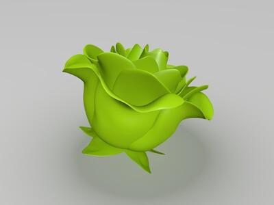 漂亮的花-3d打印模型
