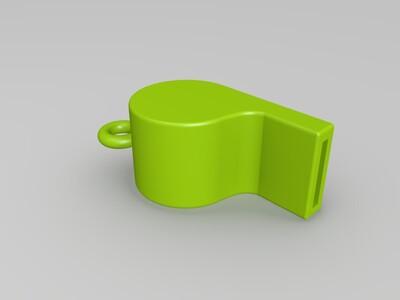 足球 体育 裁判 口哨 自带转珠-3d打印模型