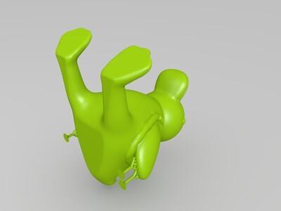 鸭子手机支架-3d打印模型