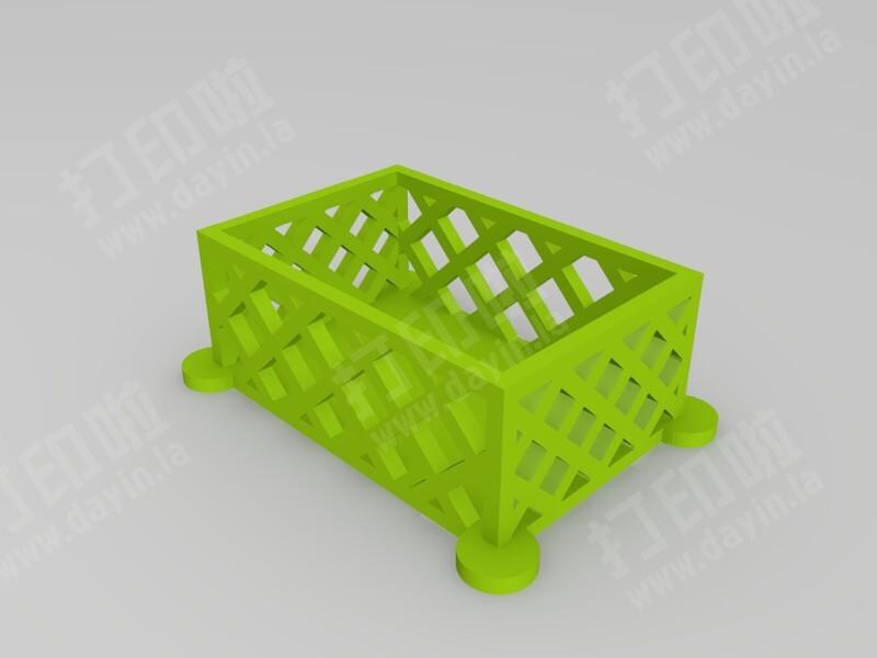 栅格筐子-3d打印模型