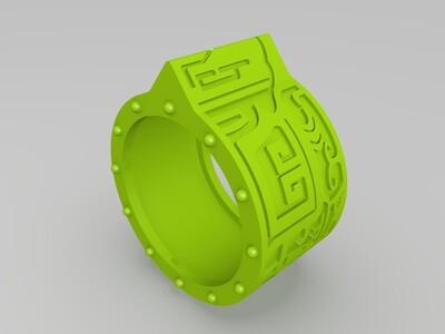 二维戒指-3d打印模型
