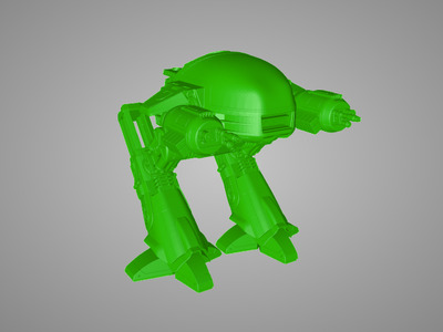 ED-209机械战警高精度图纸-3d打印模型