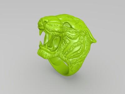 虎头戒指-3d打印模型