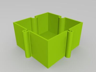 可无限扩展的螺丝盒-3d打印模型