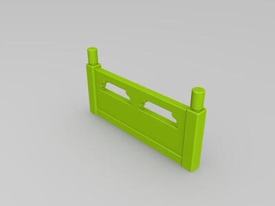 石桥栏杆-3d打印模型