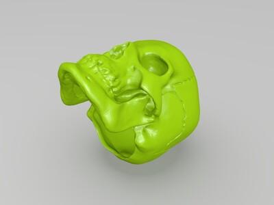 骷髅头-3d打印模型