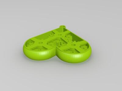 爱心齿轮 可当钥匙扣-3d打印模型